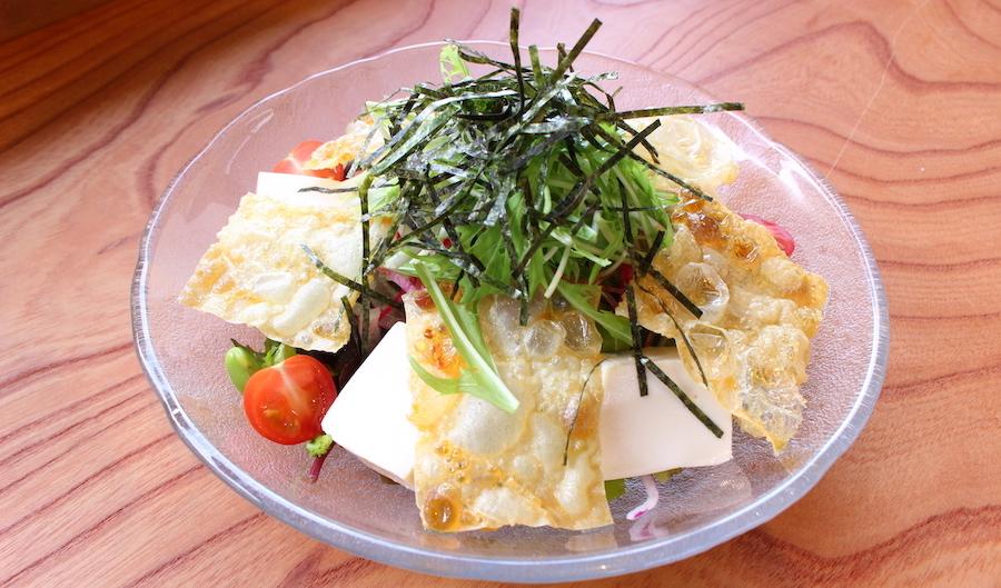 パリパリ湯葉と京北野菜サラダ